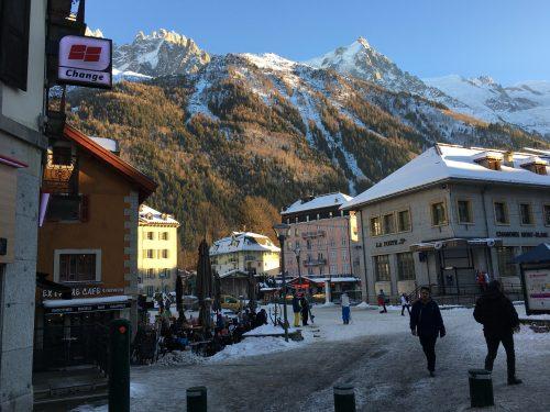Ruas de Chamonix no inverno