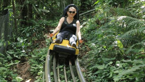 Trenó no Parque Unipraias