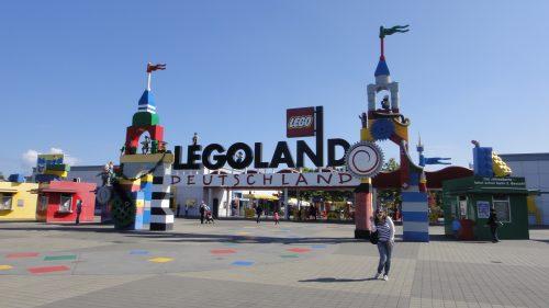 Entrada do parque Legoland na Alemanha