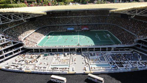 Allianz Arena feito em Lego na Legoland