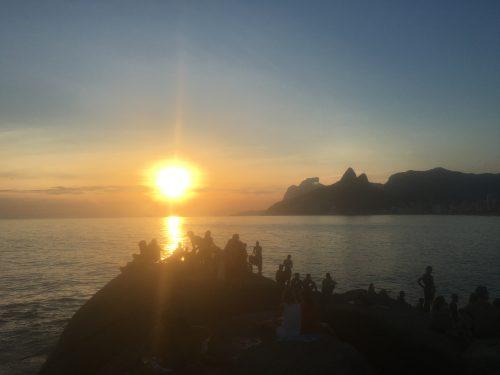 Pôr do sol no Arpoador, Rio do Janeiro