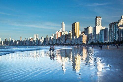 Praia em Santa Catarina