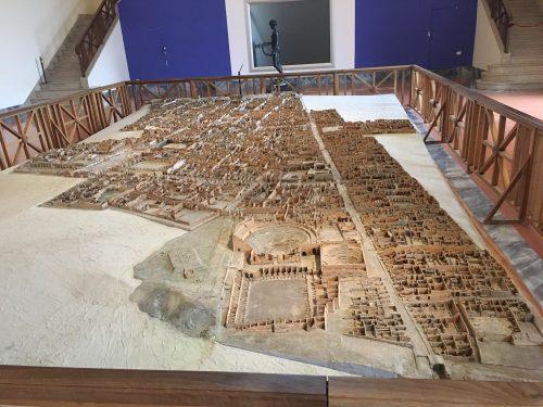 Maquete de Pompéia apresentada no Museu Arqueológico de Nápoles