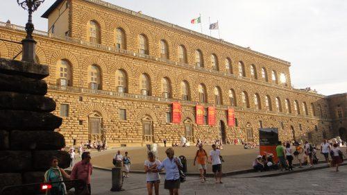 Frente do Palácio Pitti na Toscana