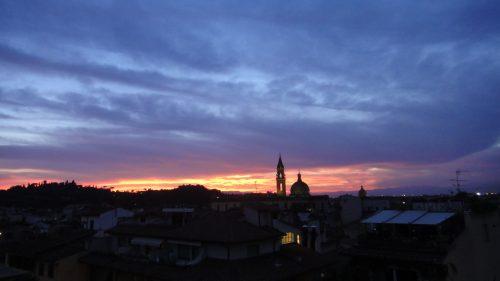 Cores do céu no verão em Firenze