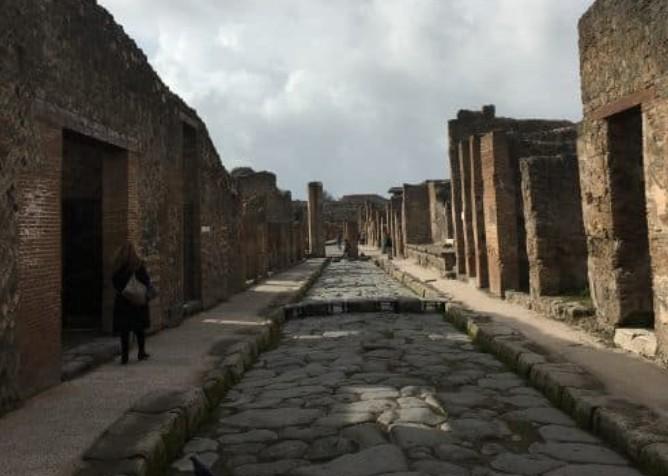 Engenharia das ruas de Pompéia