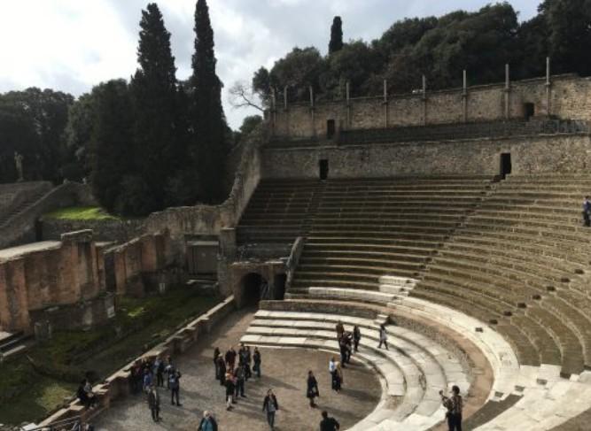 Anfiteatro romano em Pompéia