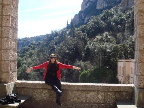 Natureza ao redor do mosteiro em Montserrat