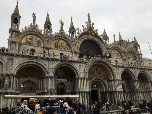 Frente da Basílica São Marcos em Veneza