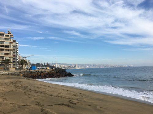 Praia do Balneário de Reñaca no Chile