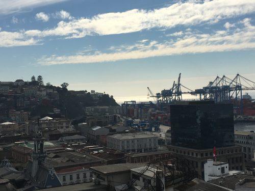 Paisagem dos mirantes do Cerro Alegre e Concepción