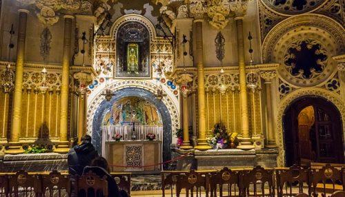 Interior do Mosteiro de Montserrat