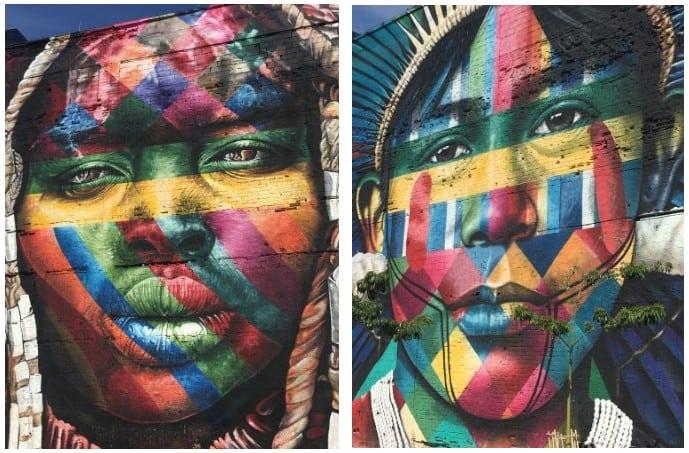 painéis sobre etnias no Porto Maravilha