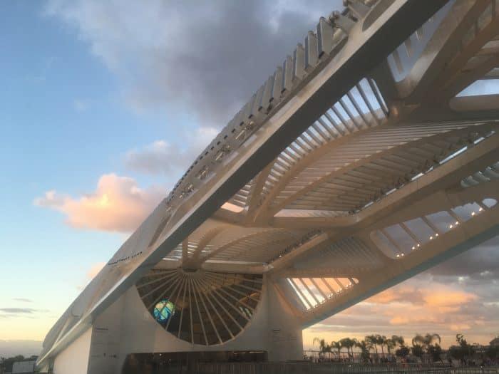 bonita arquitetura do Museu do Amanhã