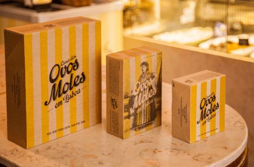 Embalagens da Casa dos Ovos Moles em Lisboa