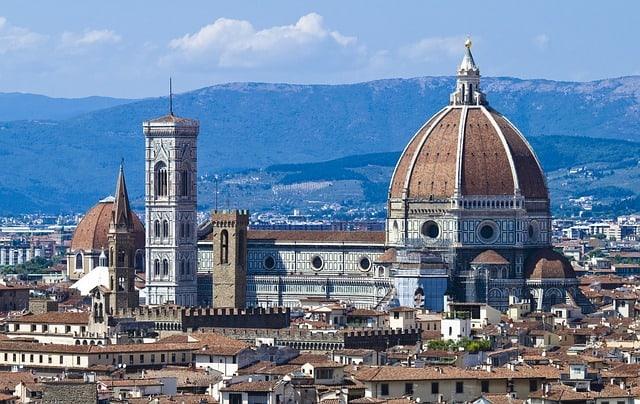 Florença e sua catedral vista de cima