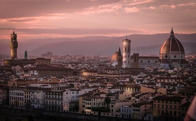 Vista panorâmica de Florença durante o fim do dia