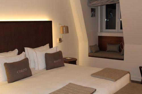 Quarto do hotel Corpo Santo em Lisboa