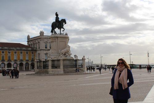 Praça do Comércio em Lisboa, Portugal