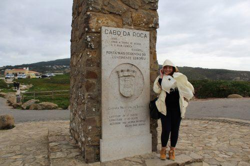 placa que é símbolo do Cabo da Roca