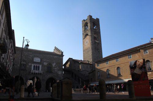 Centro da Piazza Vecchia em Bérgamo