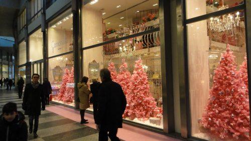 Vitrines do Quadrilátero da moda em Milão