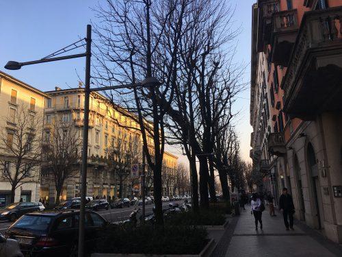 Rua do hotel Cappello D´Oro em Bérgamo