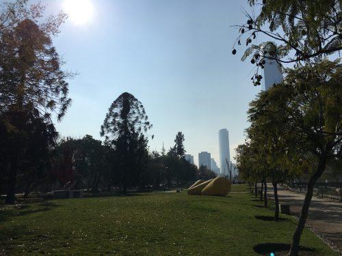 Parque urbano em Santiago
