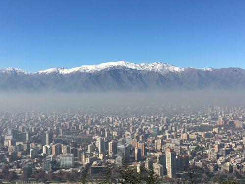 Vista do Parque Metropolitano para Santiago e Cordilheiras