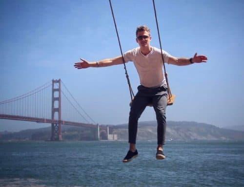 Pilot Patrick balançando nos Estados Unidos
