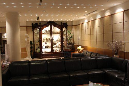 Interior do hotel Cappello D´Oro em Bérgamo
