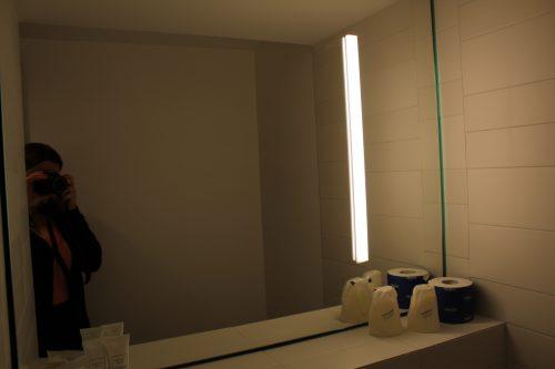 Banheiro do quarto do hotel Cappello D´Oro