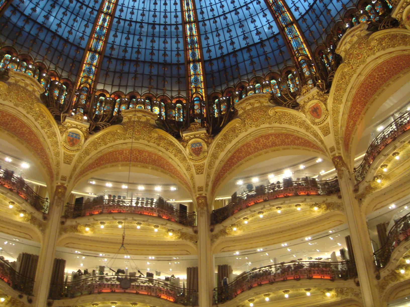 Interior das Galeries Lafayette