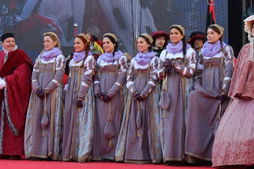 As Marias mais bonitas do carnaval de Veneza