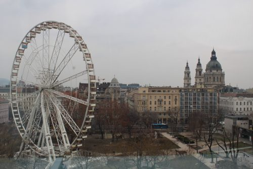 Roda Gigante Budapest Eye vista do Kempinski Corvinus