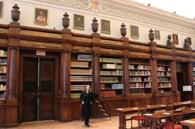 Interior da Biblioteca Civica Angelo Mai