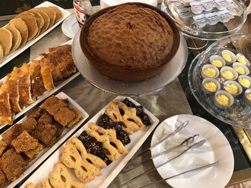 Café da manhã no hotel Papadopoli em Veneza