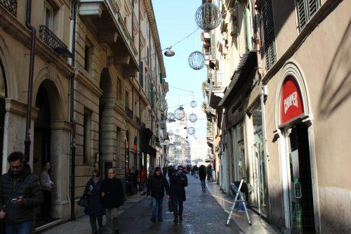 Lojas da Via Mazzini em Verona
