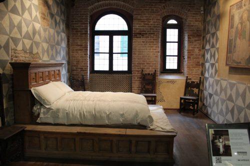 Reprodução do quarto da Julieta em Verona