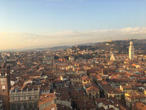 Vista da Torri del Lamberti em Verona