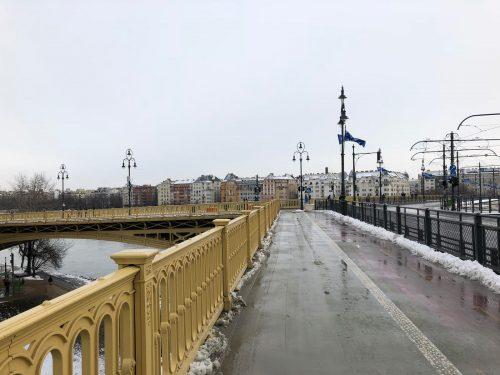 Ponte que dá acesso à Ilha Margit