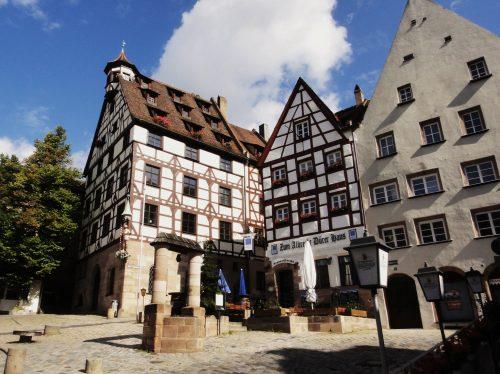 Arquitetura das casas em Nuremberg