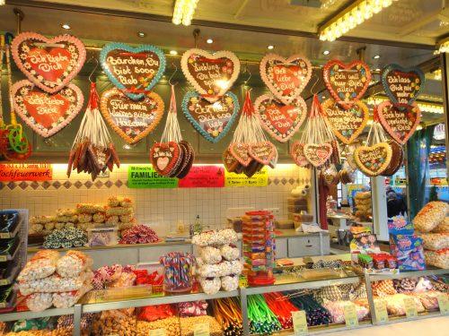 Pão de mel e produtos alemães em Nuremberg