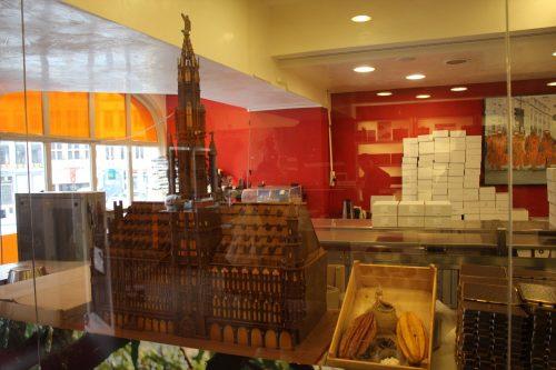 Monumento belga em chocolate na Chocopolis