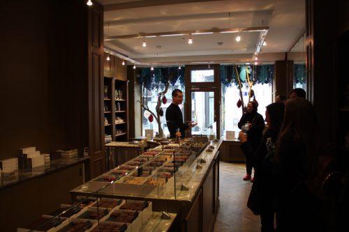 Parte interna da loja Frederic Blondeel em Bruxelas