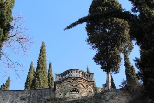 Bancada na parte superior do Giardino Giusti