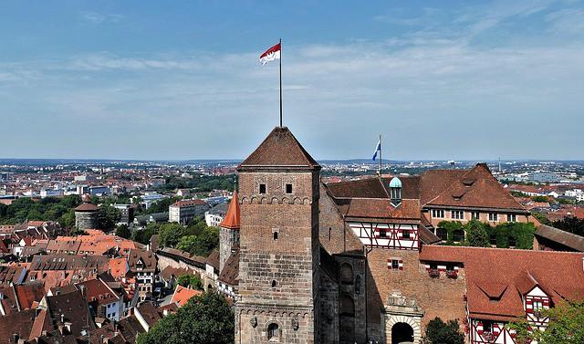 Vista panorâmica do Castelo de Nuremberg