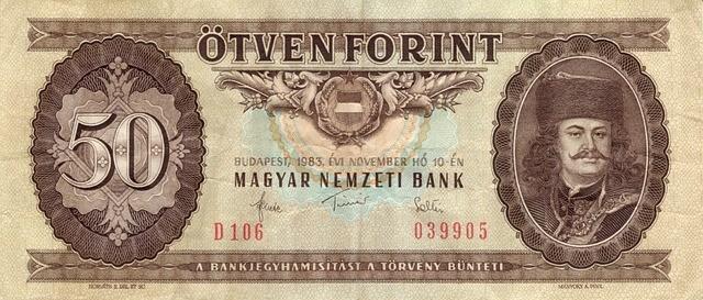 Nota de Florim Húngaro