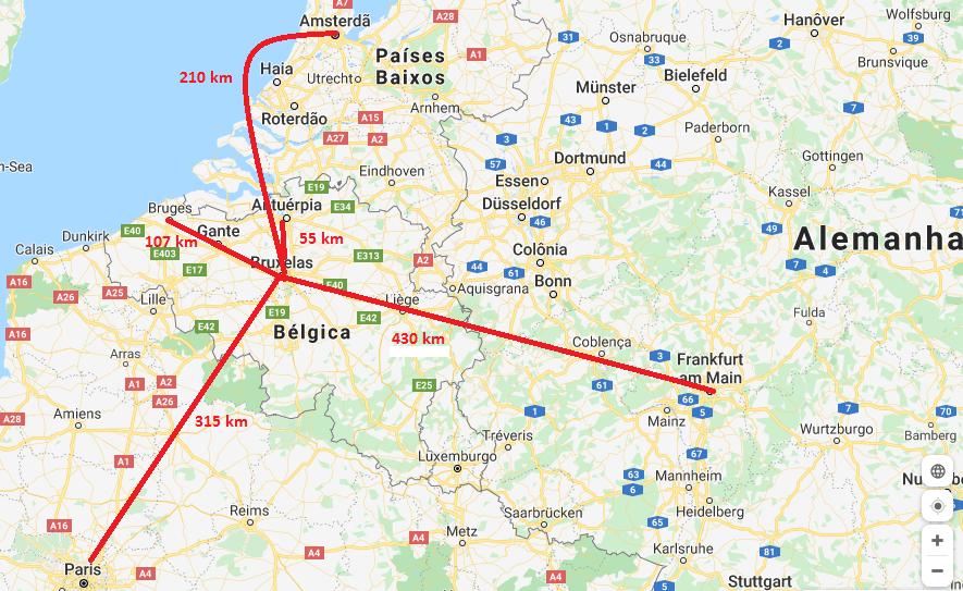 Distância de Bruxelas