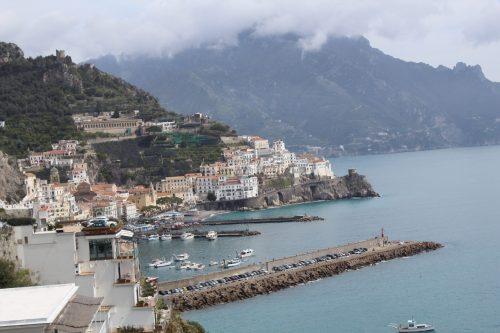 vista da cidade de Amalfi do hotel Santa Caterina